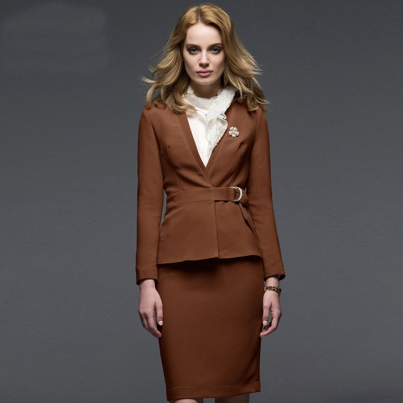women #work #wear #brown #suits | Women Brown Bespoke | Pinterest ...
