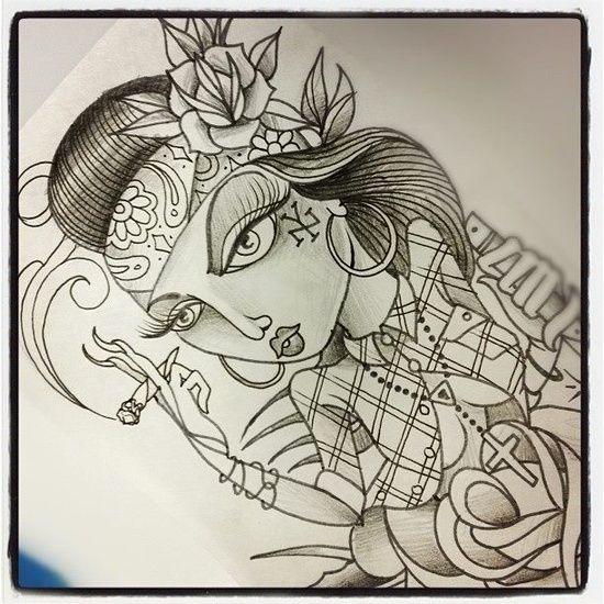Chola Girl Arte