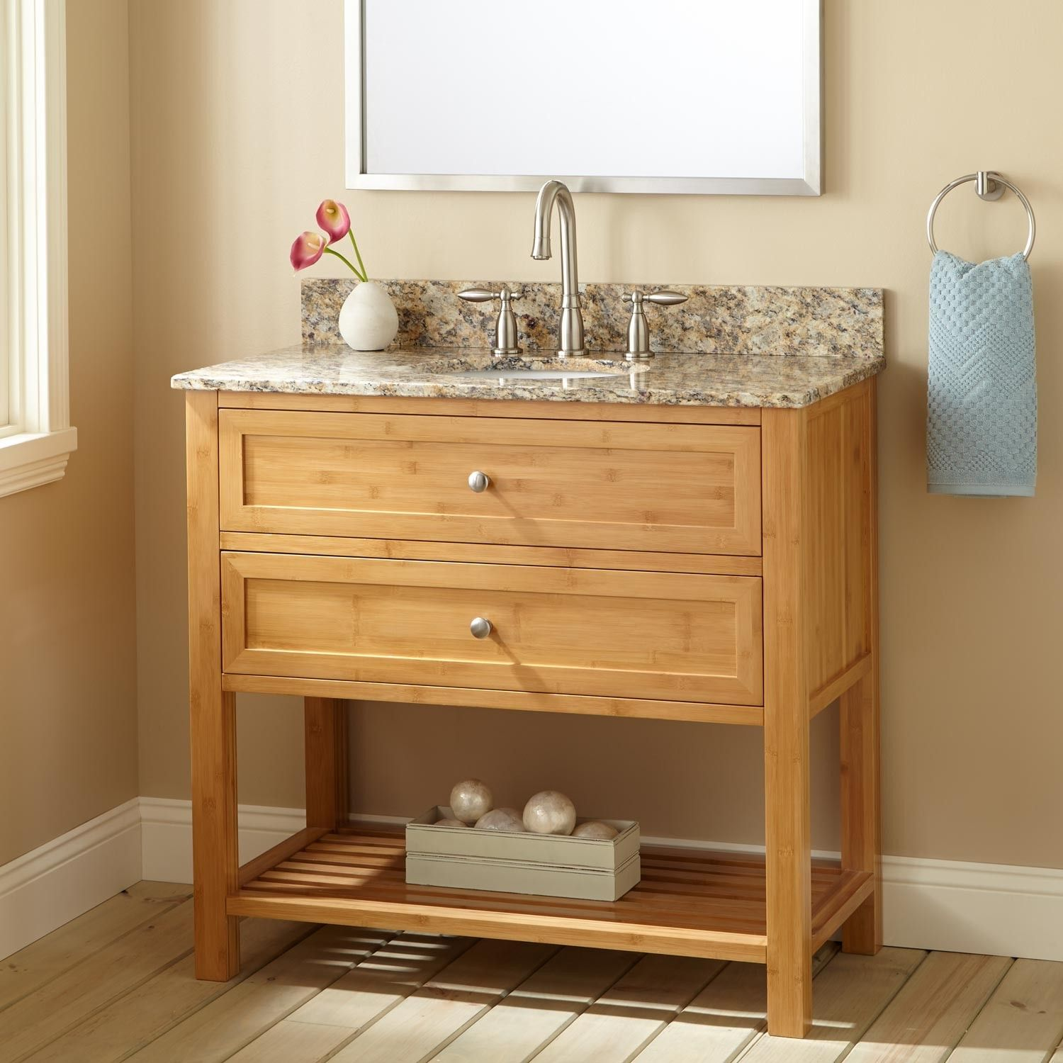 "36"" Narrow Depth Taren Bamboo Vanity For Undermount Sink Mesmerizing Narrow Depth Bathroom Vanity Decorating Inspiration"