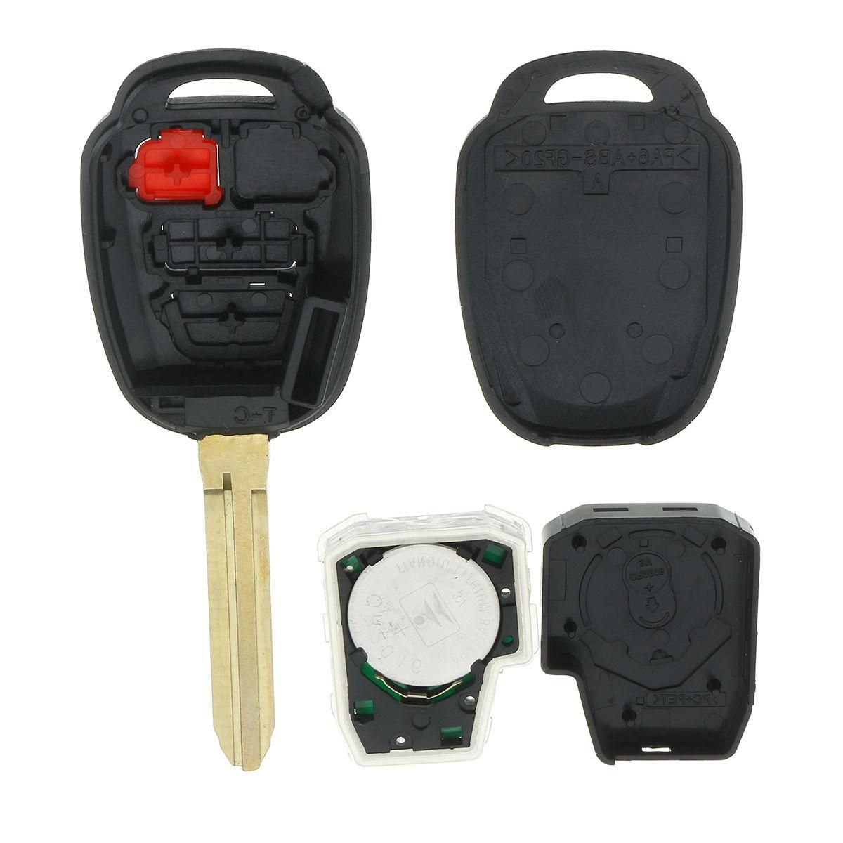 Replacement Car Remote Key Fob With H Chip For Toyota Prius C V