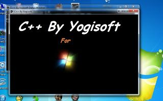 C++ By YOGISOFT is Specially designed  for All School/college students to run Turbo C++ in windows 7 and 8 by Yogendra Singh.