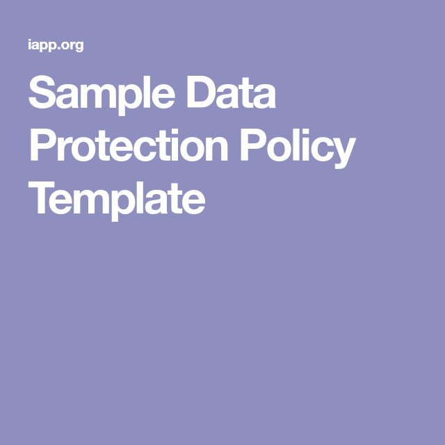 sample data protection policy template board advice pinterest template