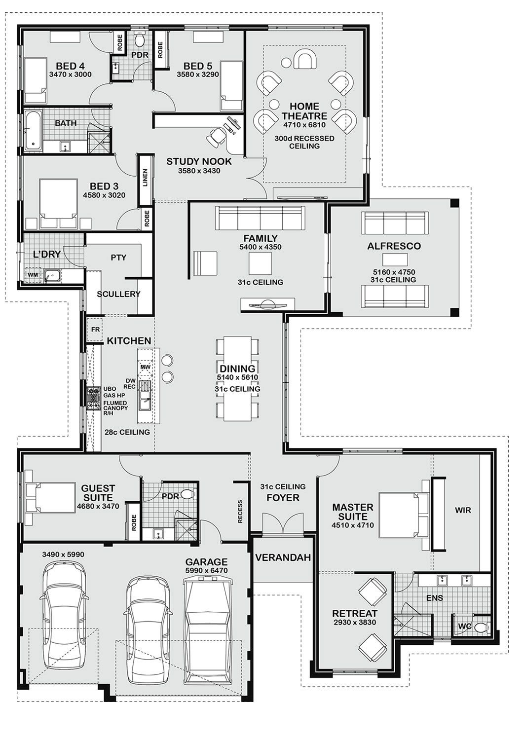 Floor Plan Friday 5 bedroom entertainer Dream house