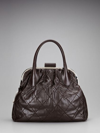 cd925593ae4e Brown Quilted Calfskin Doctor s Frame Bag by Chanel