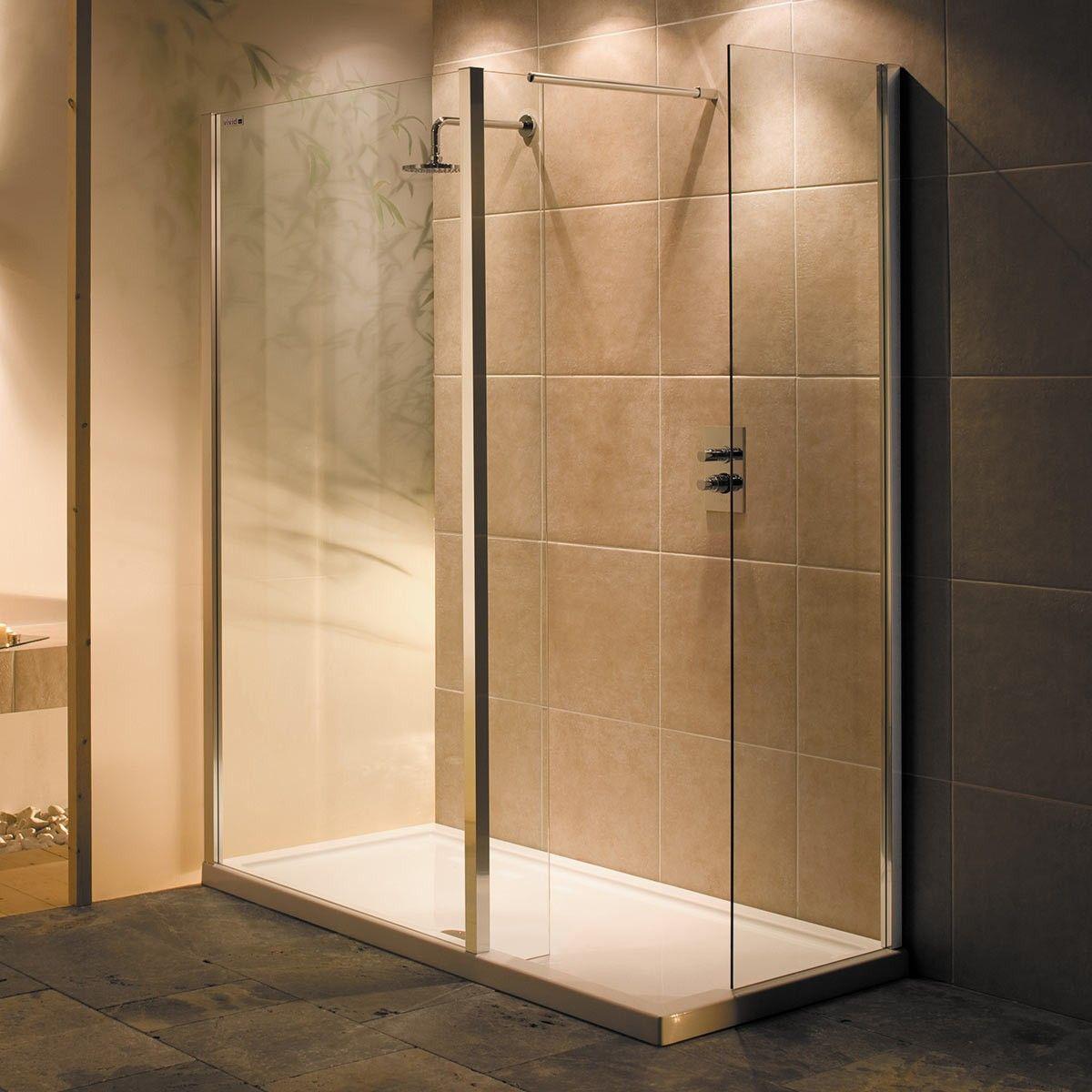 Vivid 9 Cube Walk in Shower Enclosure & Tray 1500 x 800 | Bathroom ...