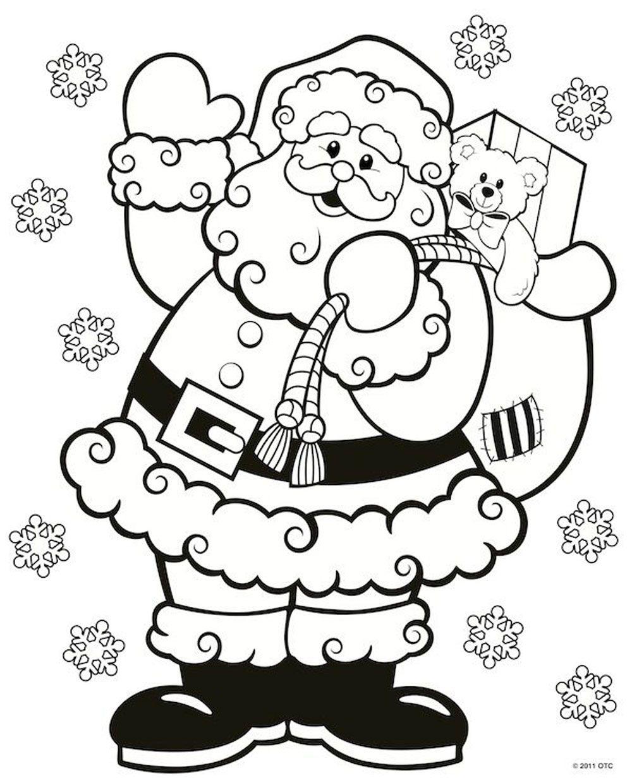 Desenho Do Papai Noel Para Colorir Imagem Legal Natal Colorir