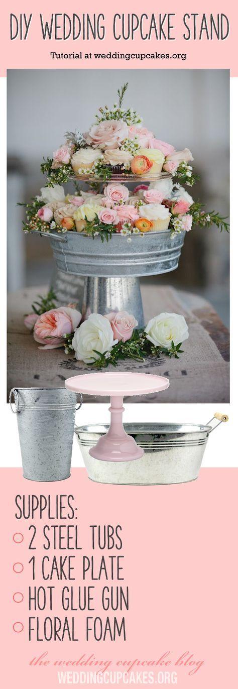 Diy wedding cupcakes stand 15 Ideas for 2019   Leuke ...