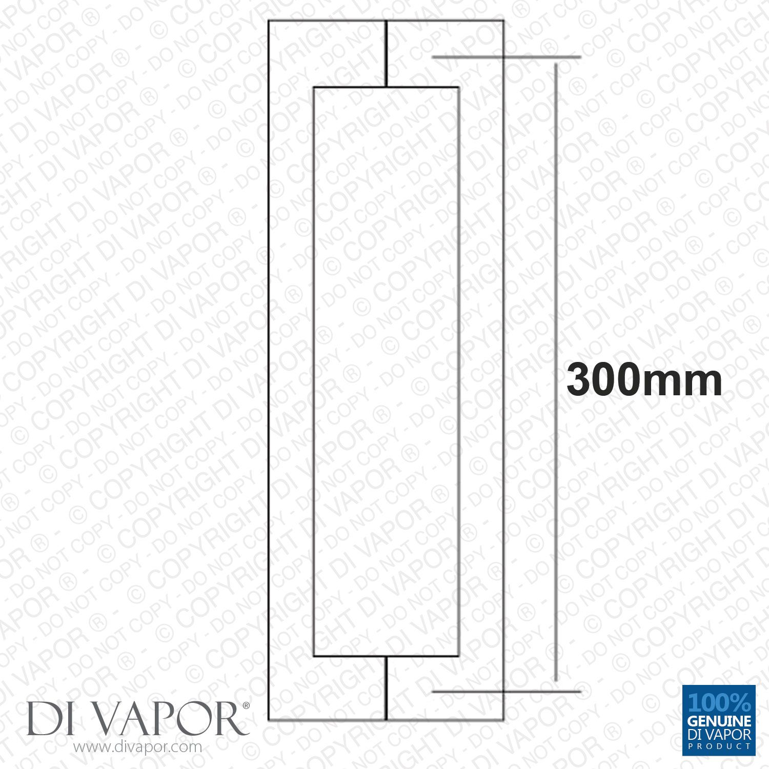 300mm Shower Door Handle | 30cm (12 Inches) Hole to Hole | Stainless ...