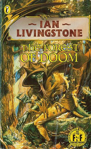 Fighting Fantasy: The Forest of Doom by Ian Livingstone. Puffin Books 1983. Cover artist Iain McCaig | Flickr - Photo Sharing!