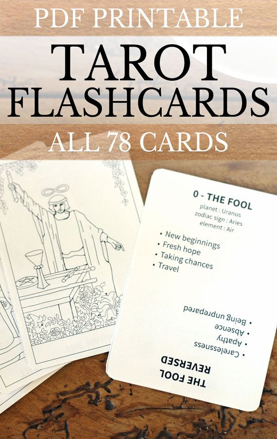 Printable Tarot Deck A Tarot Card Deck And Printable: 4 Per Page To Print At 8.5 X 11