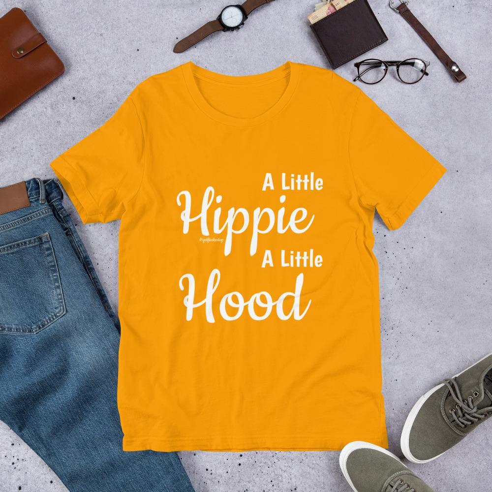 A Little Hippie A Little Hood Short Sleeve T Shirt Math Shirts