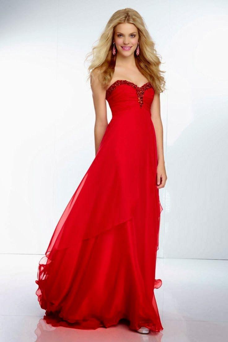 Vestidos de fiesta rojo pasion