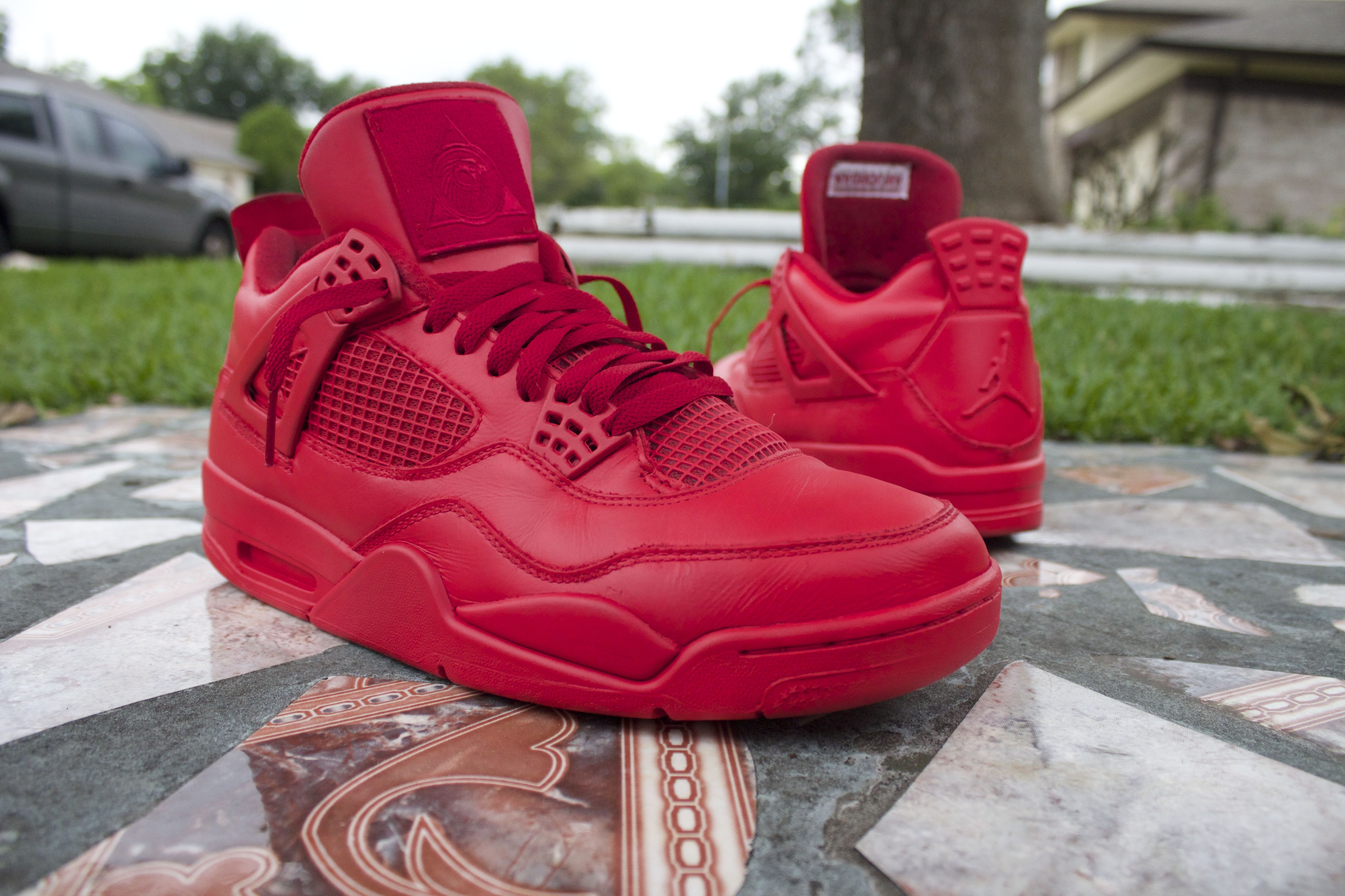 new concept 8c5c3 0a7f6 Custom Red October Yeezy inspired Jordans from 93 Customs!