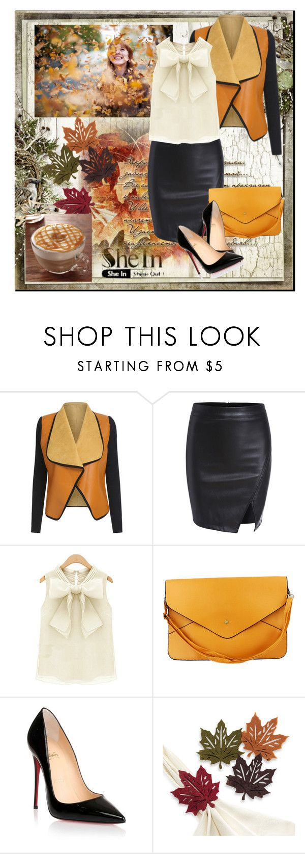 """""""black skirt"""" by anadela-galamic ❤ liked on Polyvore featuring Christian Louboutin"""