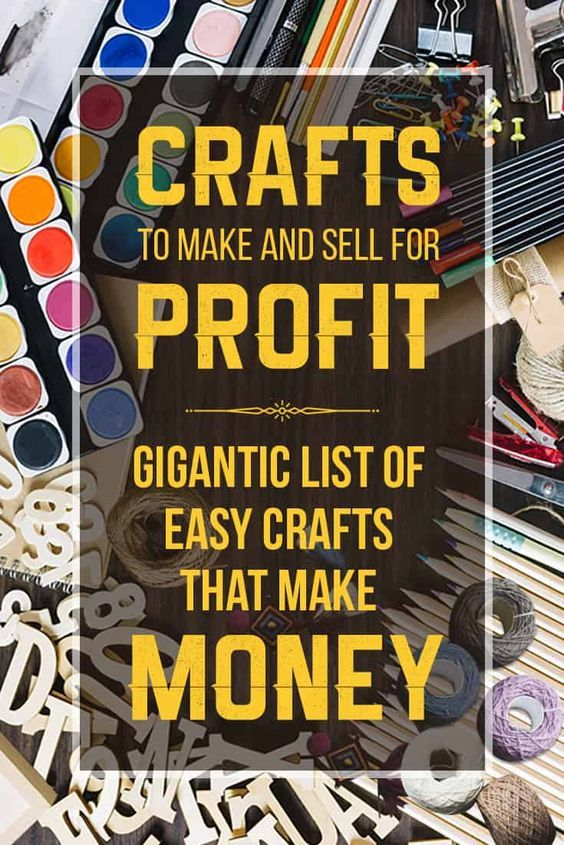 Crafts to make and sell includes over 200 DIY crafts with easy things to make and sell! These craft ideas are creative things that are current hot sellers at craft sales and fairs, Etsy, online shops and more! #craftstosell