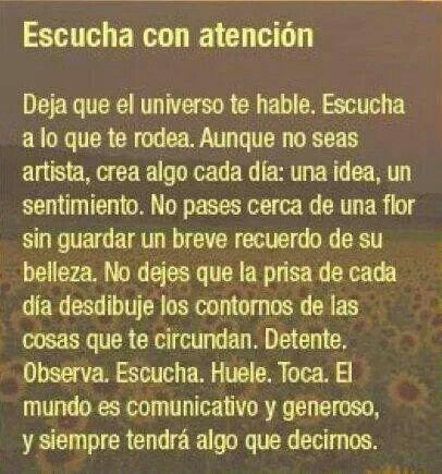 Escucha con atencion