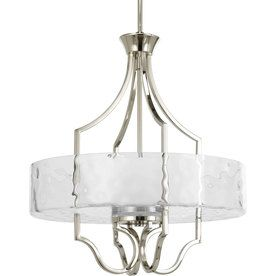 Kitchen Chandelier Option.Progress Lighting Caress 3-Light Polished Nickel Chandelier