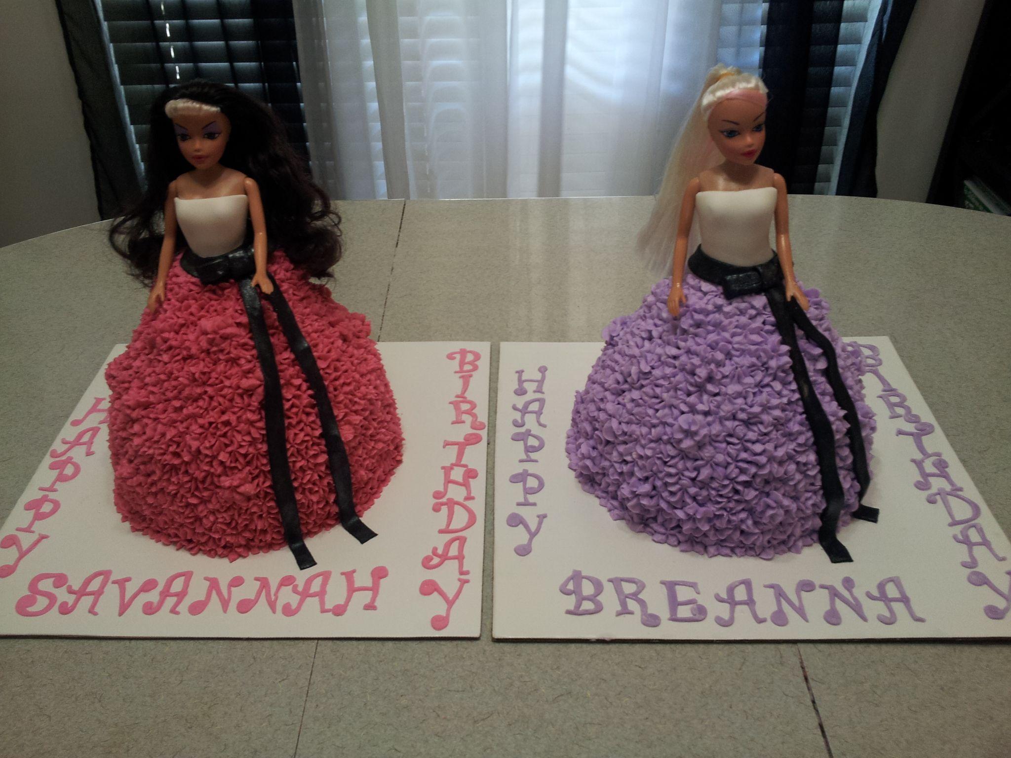 Barbie cakes.