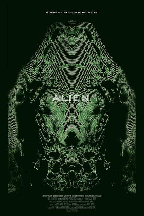 Alien - Alternative Graphic Movie Poster Art by Duke Dastardly