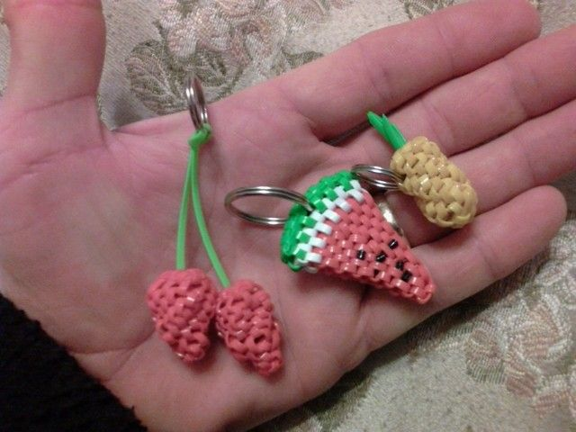 Fruits Boondoggle Keychains By Doggie Dew Boondoggle