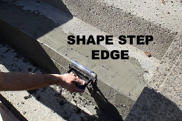 how to make cement steps