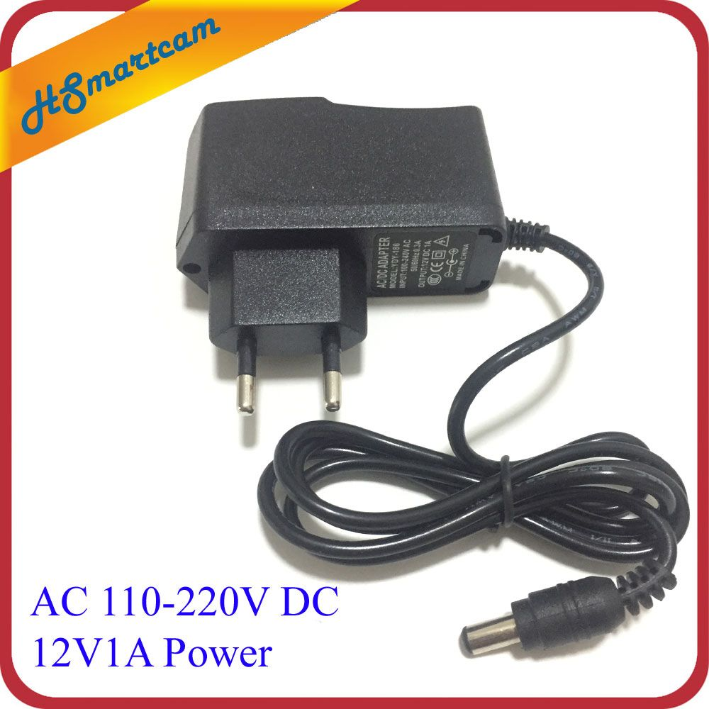 New Ac 110 240v Dc 12v 1a Eu Us Plug Power Charger Adapter For Cctv Camera 48 Led Ir Lights Dc 12v1a Power Cctv Camera Charger Adapter Video Surveillance
