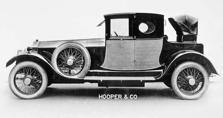 1920 Two-seater Brougham Coupé by Hooper (chassis 20TG)