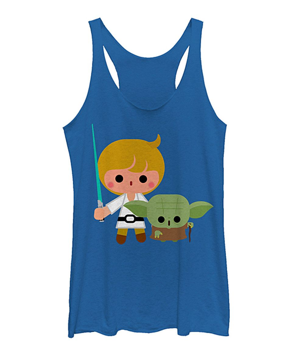 dbfa90dc Take a look at this Royal Heather Star Wars Luke Yoda Kawaii Tank - Juniors  today!