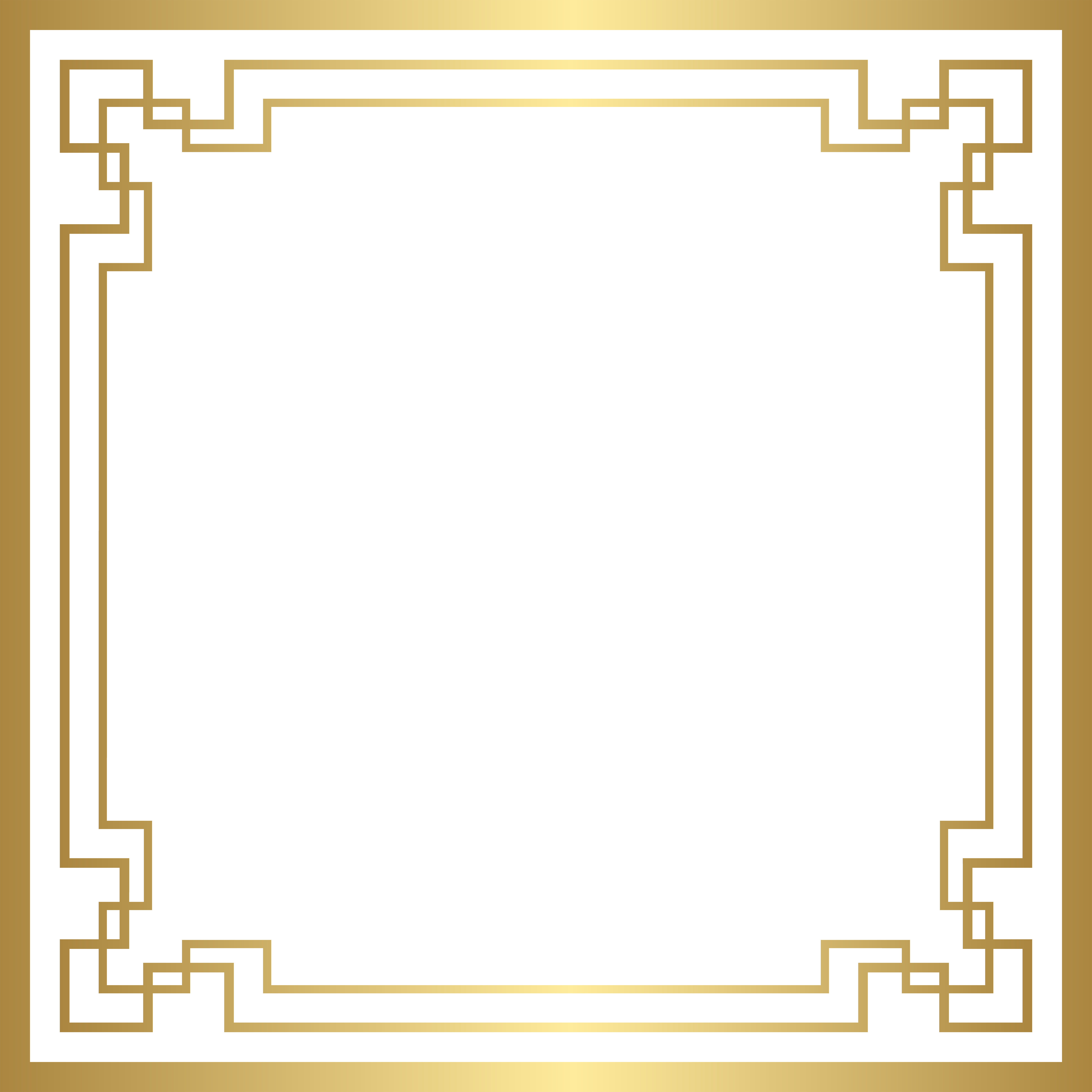 Border Frame Deco Art Gold Free Transparent Image Hd Art Deco Borders Clip Art Borders Free Art