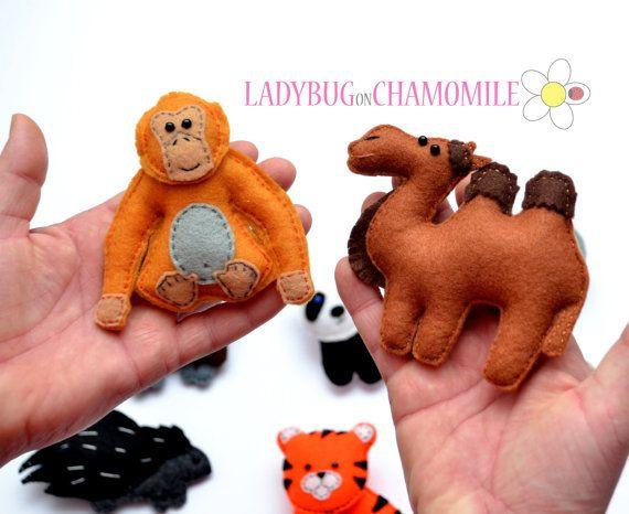 Desert Animals Asian Felt Magnets Price Per 1 Item Make Your Own Set Panda Tiger Orangutan Yak Snow Leopard Camel