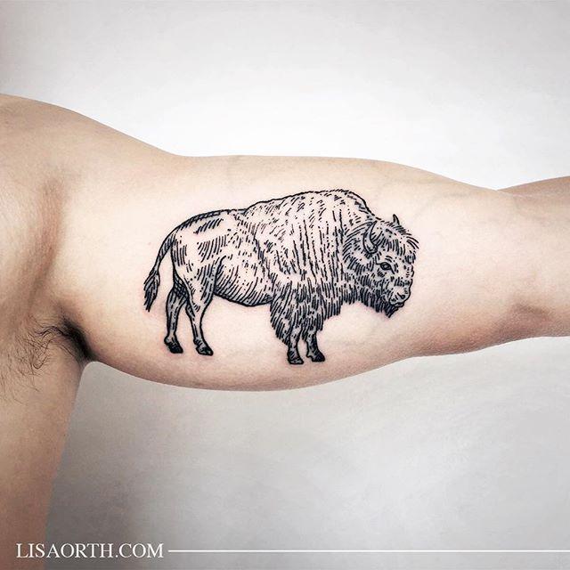 Bison tattoo buffalo tattoo tattoo project future tattoos for Tattoo buffalo ny