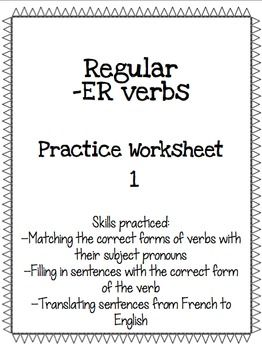 Right forms of verb practice