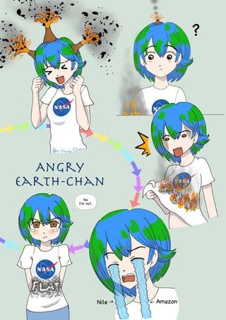 Image result for earth chan   stuff   Earth memes, Planets ...