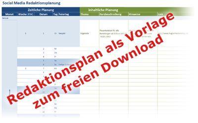 Social Media Redaktionsplan 7 Muster Als Vorlage Vorlagen Planer Online Marketing