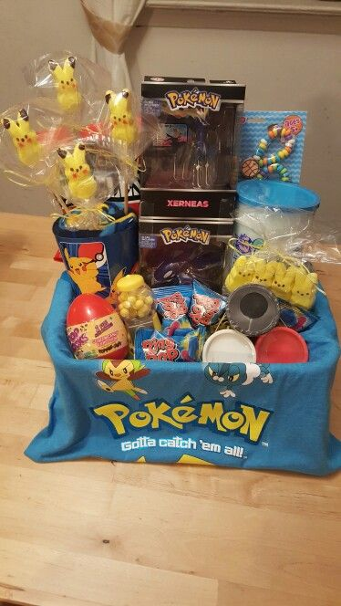 15 of the most creative easter baskets on the planet easter pokemon easter basket minecraft pokemon cake negle Gallery