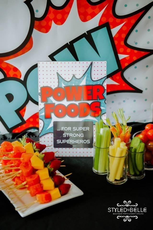 Power Foods / Super Hero Party | Hospital week 2018 | Pinterest