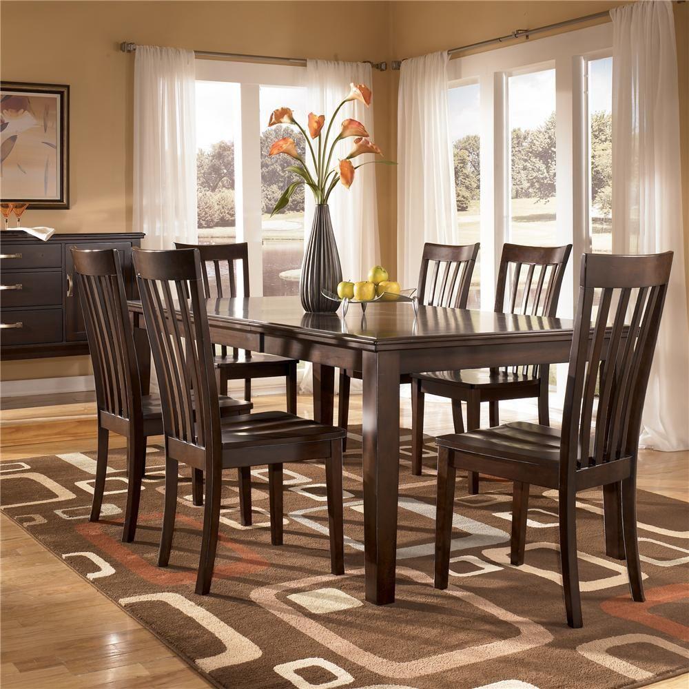 Logan 7 Piece Rectangular Table Dining Set by Ashley Furniture ...