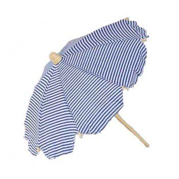 Strandschirm, gestreift, weiss/blau, 42 cm Party Discount…