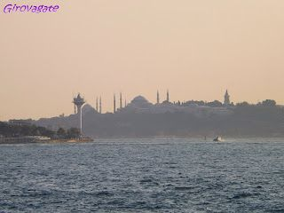 Istanbul from Bosphorus at sunset