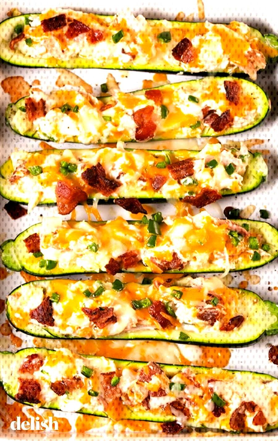 Jalapeño Popper Zucchini Boats Jalapeño Popper Zucchini Boats   Delish Low-Carb Recipes + Meals Y