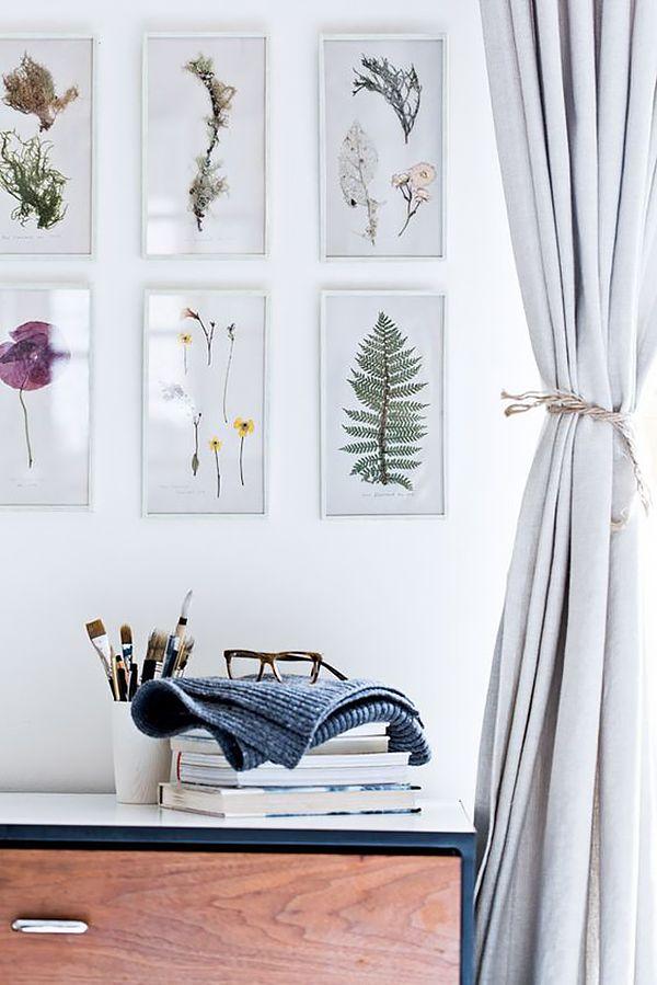 15 Ambientes Decorados Com Murais Botanicos - Plantas-secas-decoracion
