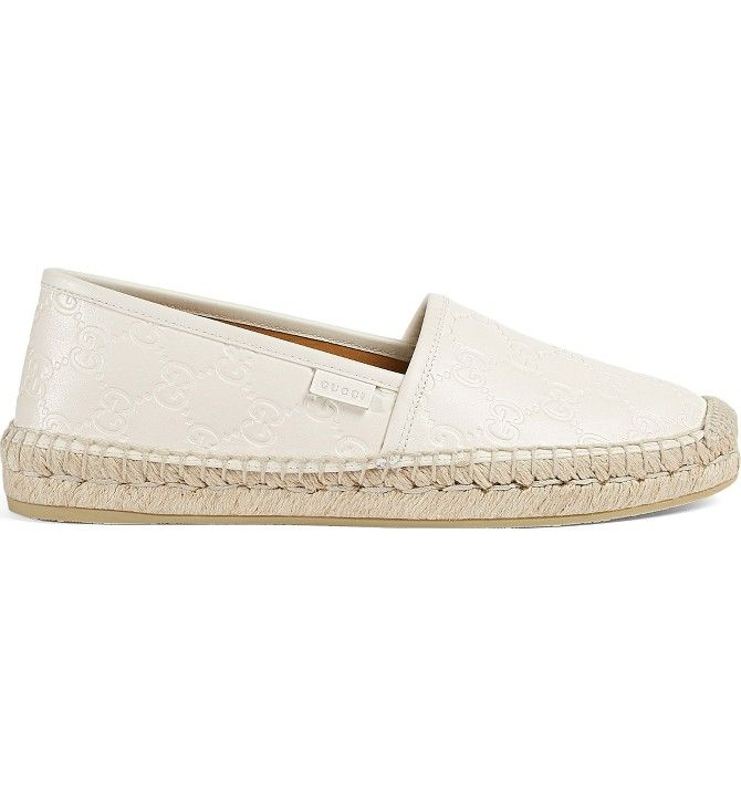 fe2ccef7c91 Main Image - Gucci Pilar Espadrille Flat (Women) White Wedge Sandals