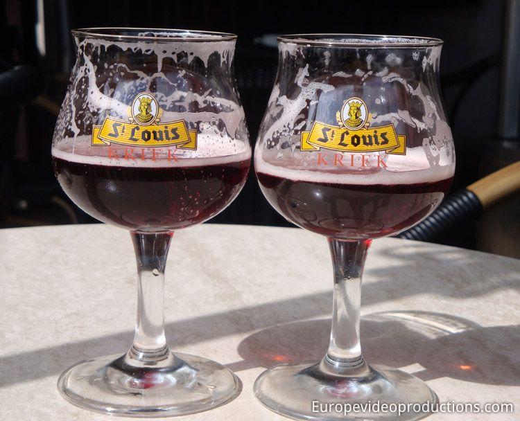 Kriek lambic cherry beer in Belgium (there are several brands of Belgian Kriek)