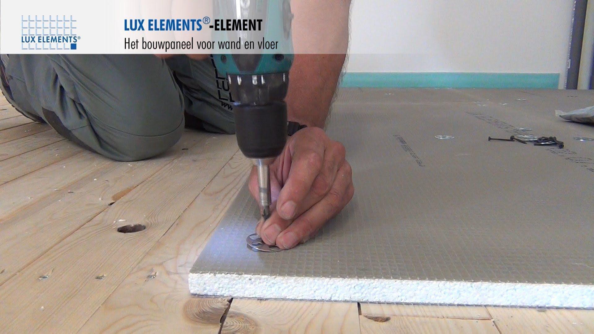 Bouwplaat Voor Badkamer : Lux elements montage bouwplaat element op houten vloeren