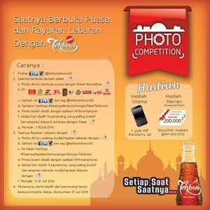 #Lomba #Kompetisi #LombaFoto #KompetisiFoto #TehbotolSosro Kompetisi Foto Selfie 2015 Saatnya Berbuka Puasa dan Rayakan Lebaran dengan Tehbotol Sosro  Periode: 1 - 21 Juli 2015  http://infosayembara.com/info-lomba.php?judul=kompetisi-foto-selfie-2015-saatnya-berbuka-puasa-dan-rayakan-lebaran-dengan-tehbotol-sosro