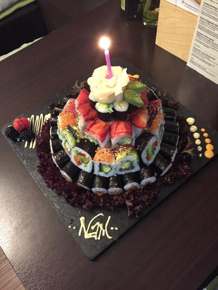 sushi birthday cake images