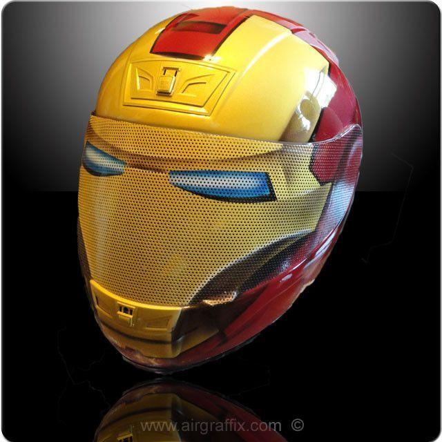 Superhero Inspired Motorbike Helmets With Images Motorcycle