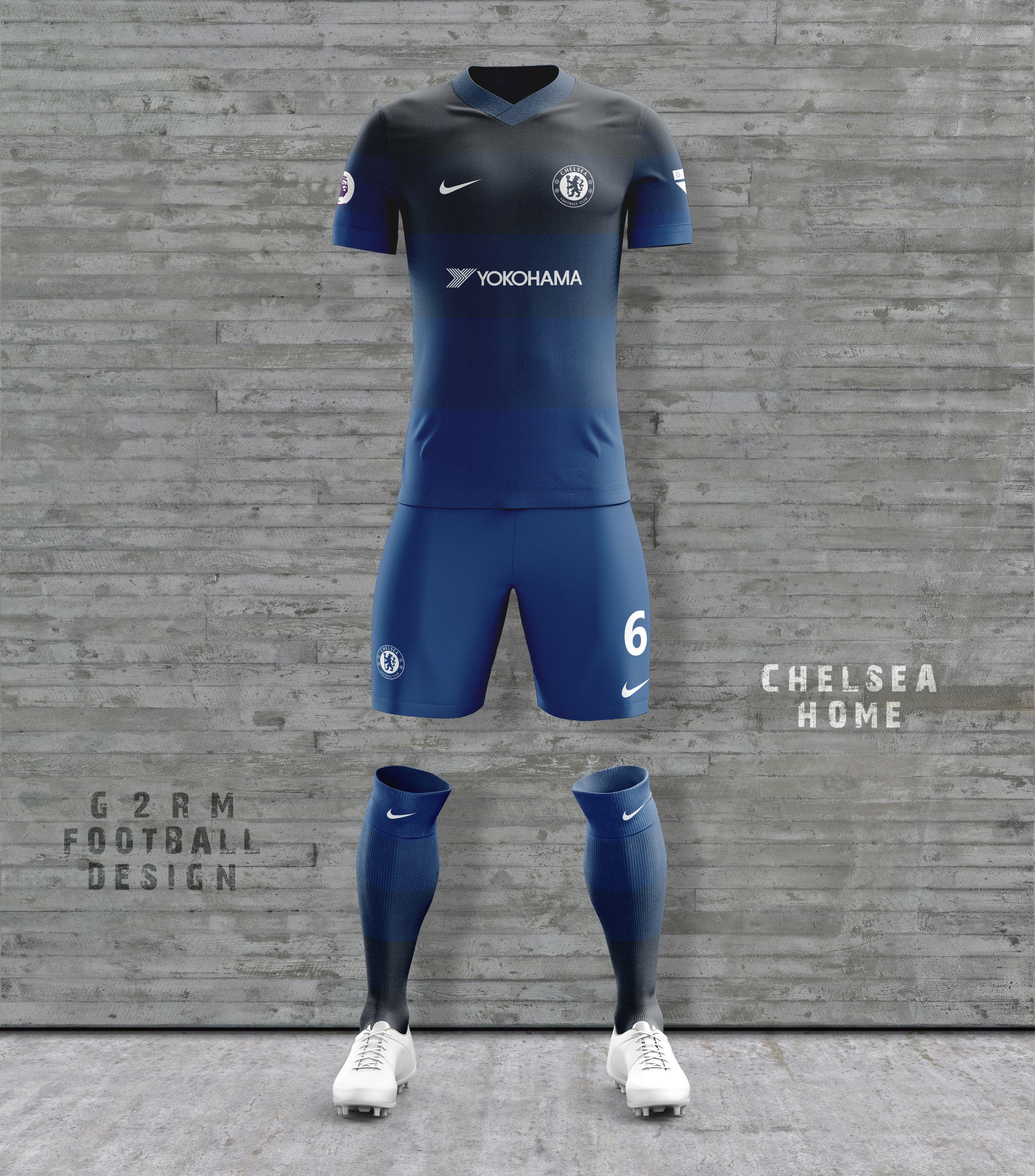 Chelsea Concept Kit designed by G2RM Uniformes De Futbol fbd0810d48f