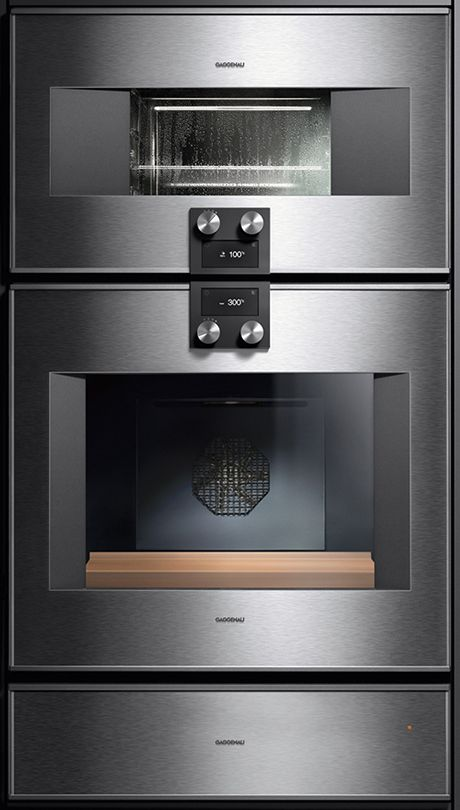 Stainless Steel Gl Built In 400 Series From Gaggenau Includes Multifunction Double Single Ovens Steam Microwaves Warming Drawers