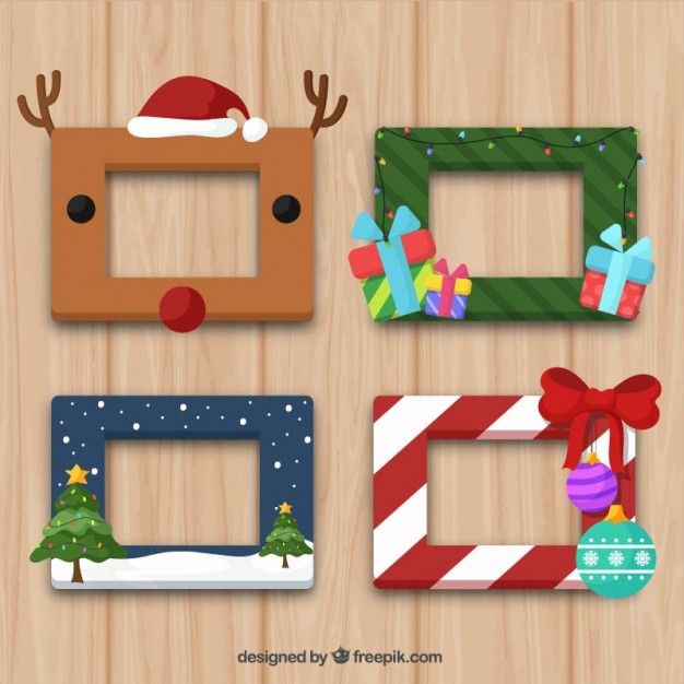 Christmas Frame Collection Free Vector | Christmas & New Year ...